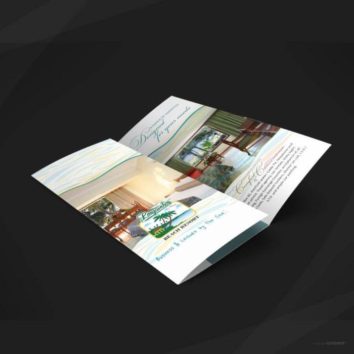 Tri-fold Brochure Design for Longuinhos Beach Resort by Soidemer