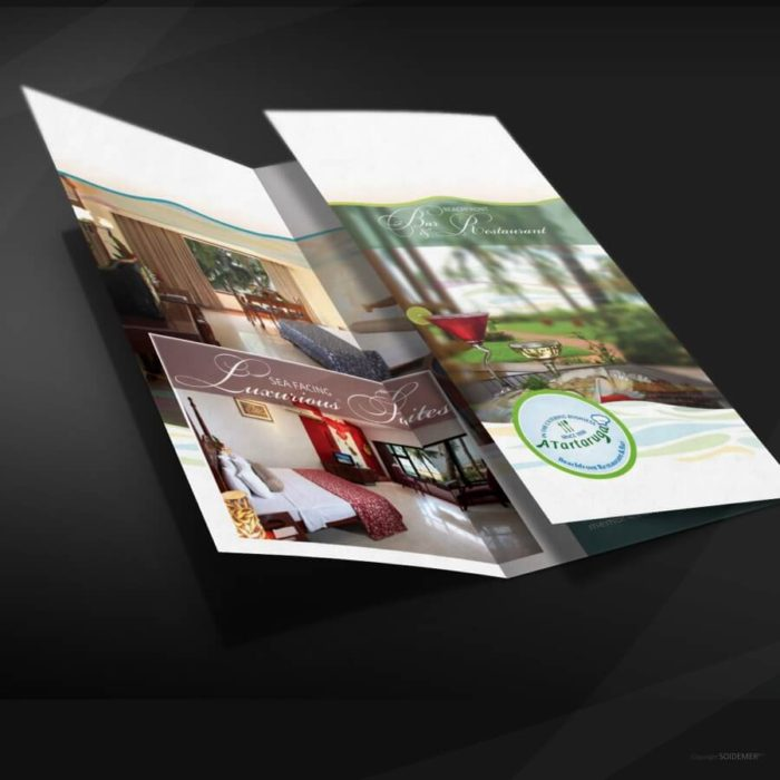 Brochure Design for Longuinhos Beach Resort by Soidemer