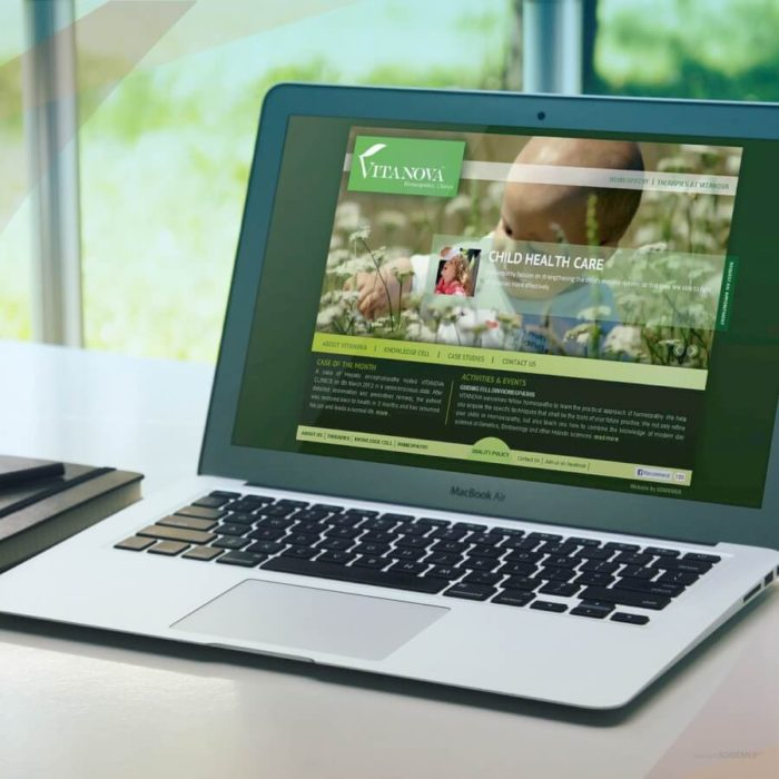 Website Design and Development for Vitanova Clinics by Soidemer