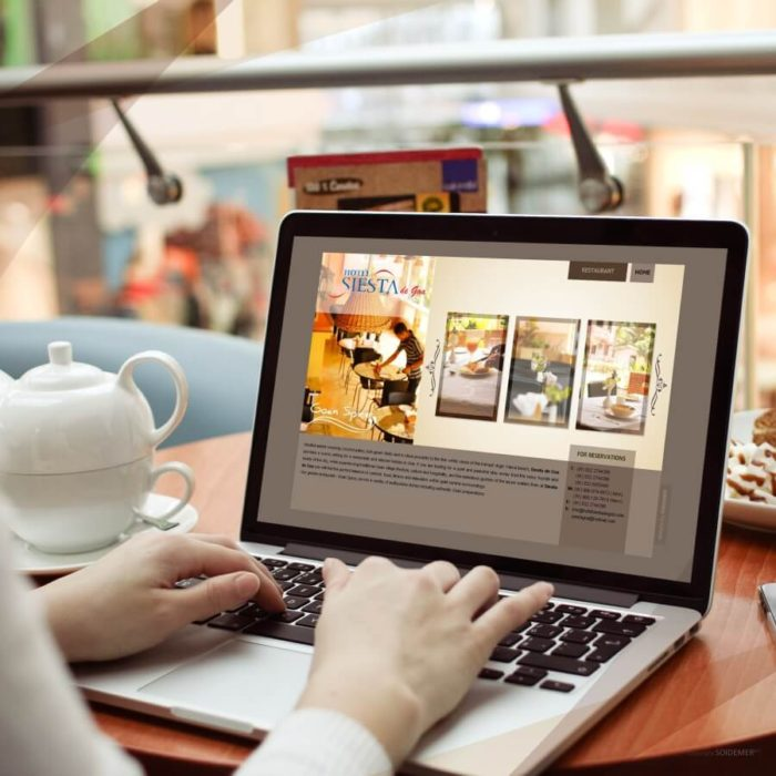 Website Design and Development for Hotel Siesta De Goa by Soidemer