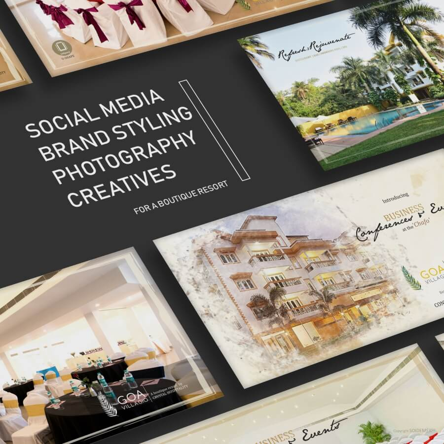 Resort Photography and Creatives for Goa Villagio designed by Soidemer