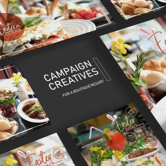 Campaign Creatives and Photography for a Boutique Resort designed by Soidemer
