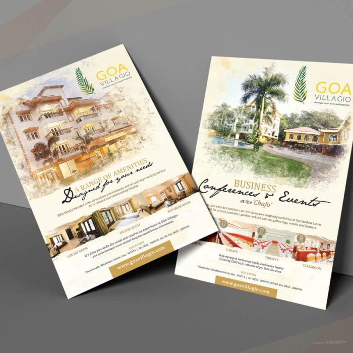 Event Posters and Creatives for Goa Villagio designed by Soidemer