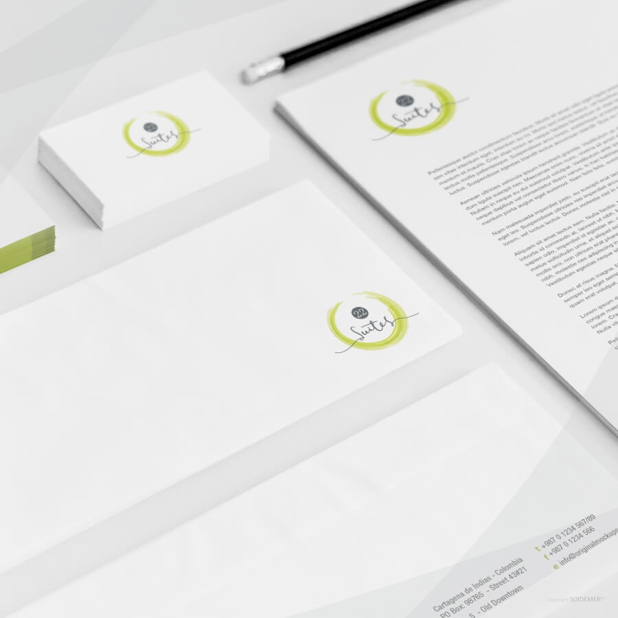 Business Hotel Logo and Identity designed by Soidemer