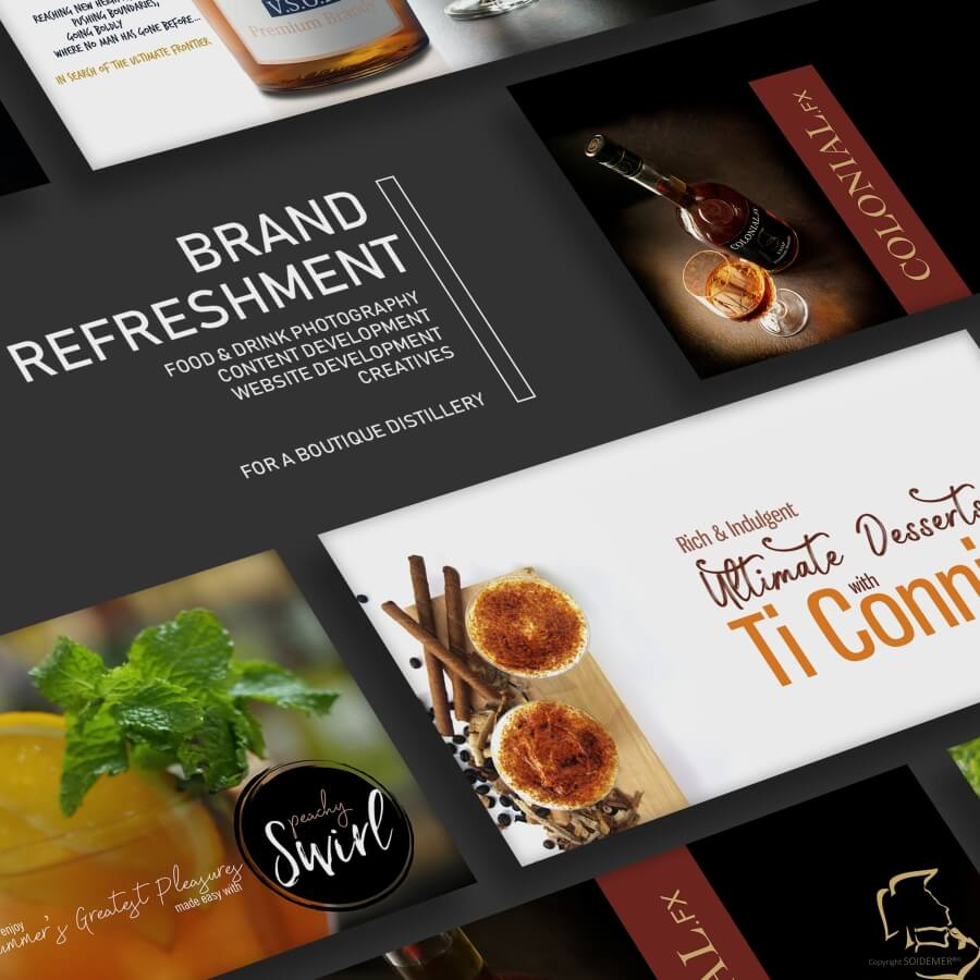 Alcohol Photography and Creatives for Adinco Distilleries conceptualized and executed by Soidemer