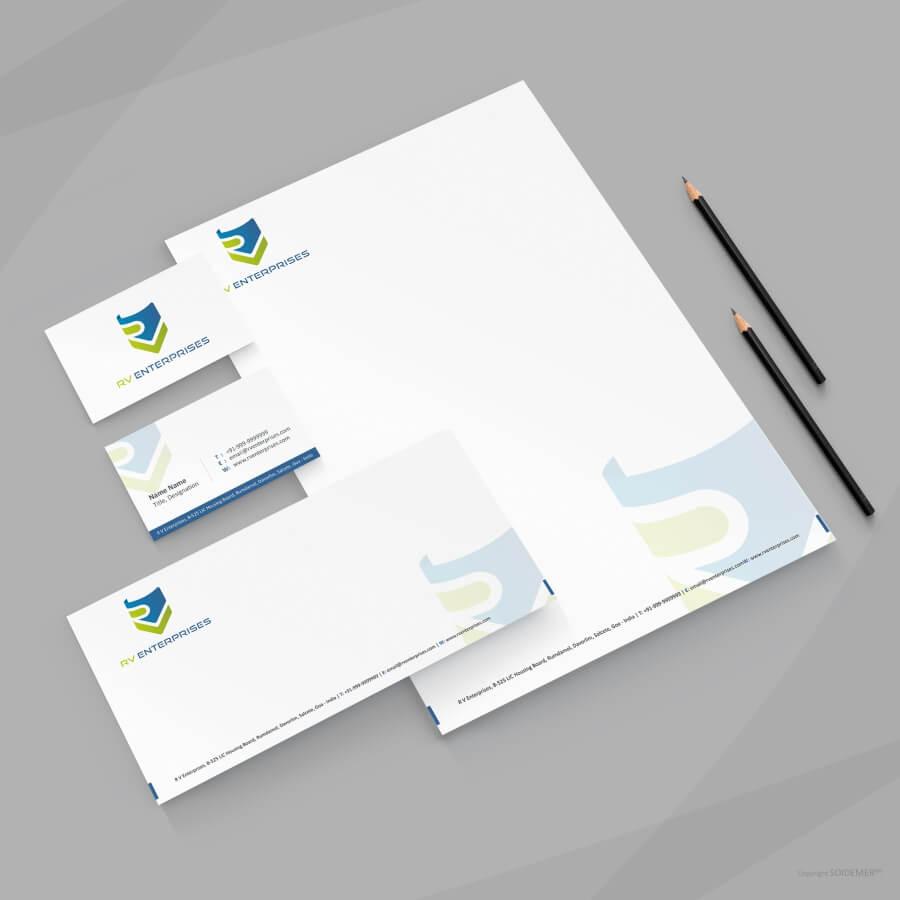 Logo and Identity for RV Enterprises designed by Soidemer