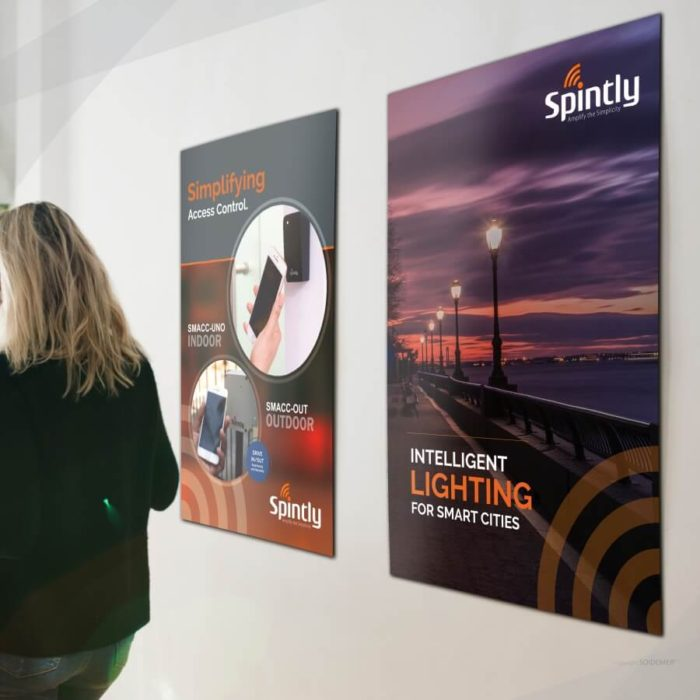 Event Creatives for Spintly Smart Access Control and lighting designed by Soidemer